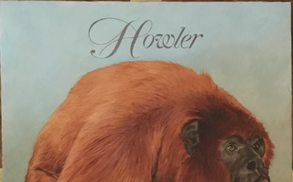"<strong>Howler monkey</strong><span class=""dims"">24x30""</span>oil on linen"
